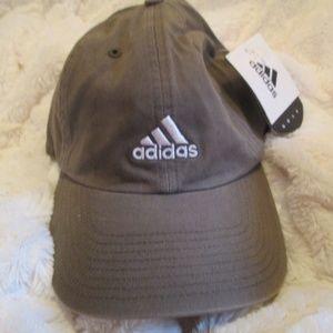 New> ADIDAS khaki Baseball Cap, white lettering
